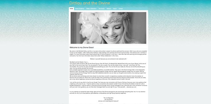 www.DittlauAndTheDivine.com Life is supposed to be Wonderful! Life Coaching, Medium sessions and Animal Communication.