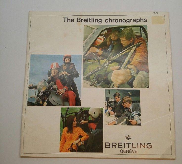 Original 1989 Breitling Chronograph Wrist Watch Catalog Retro Advertising #Breitling