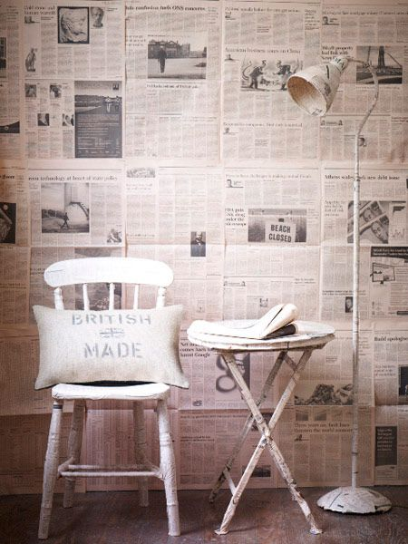 Best 25 Newspaper wall ideas on Pinterest Diy wall decor