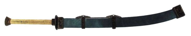 Two-handed saber in scabbard, Qing Dynasty.