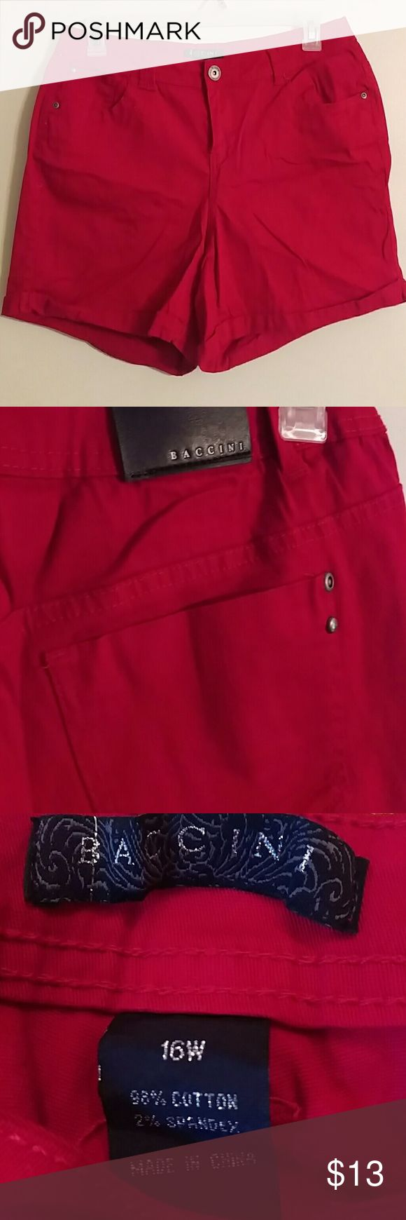 Red Jean shorts Women's red shorts size 16W Shorts Jean Shorts