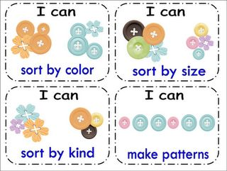 Button Math Center Cards from Inspired By Kindergarten
