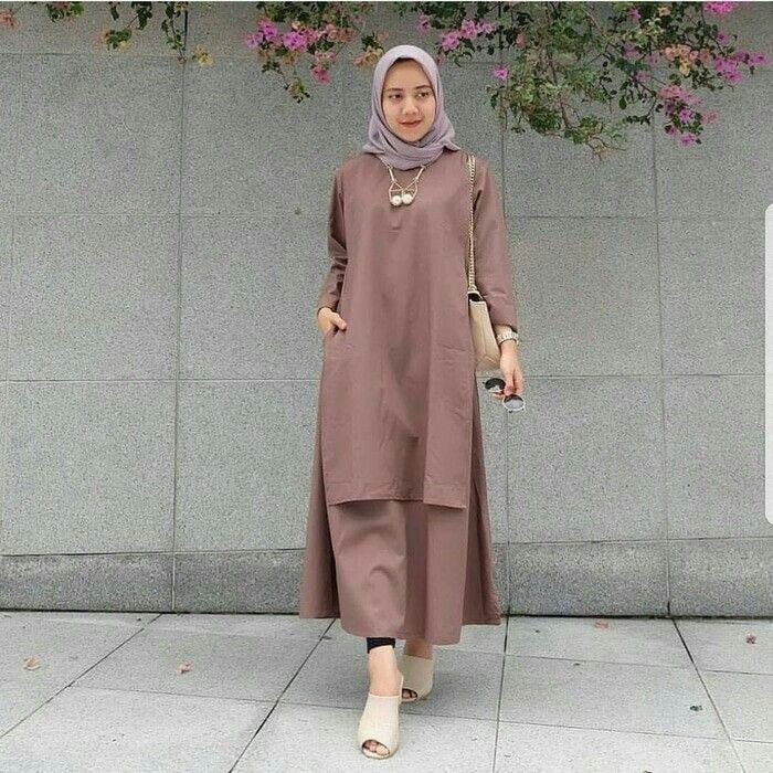 Hijab Tunik (Dengan gambar) | Wanita, Pakaian wanita, Model ...