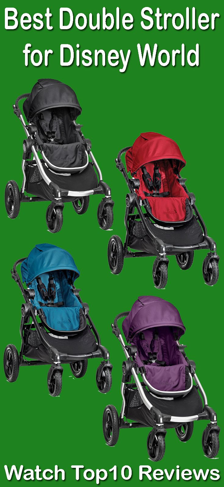 Baby Jogger City Select Stroller:Baby Jogger City Select Stroller is number one best double stroller 2017. It is an all-rounder baby stroller which has multiple options and multiple features. You can use this versatile stroller has the facilities of travel system, pram, double, triple, or just a single. This double stroller is well known for best twin stroller. Its one step compact folding system make easy to carry and car seat adding facility make it best travel stroller for twins too.