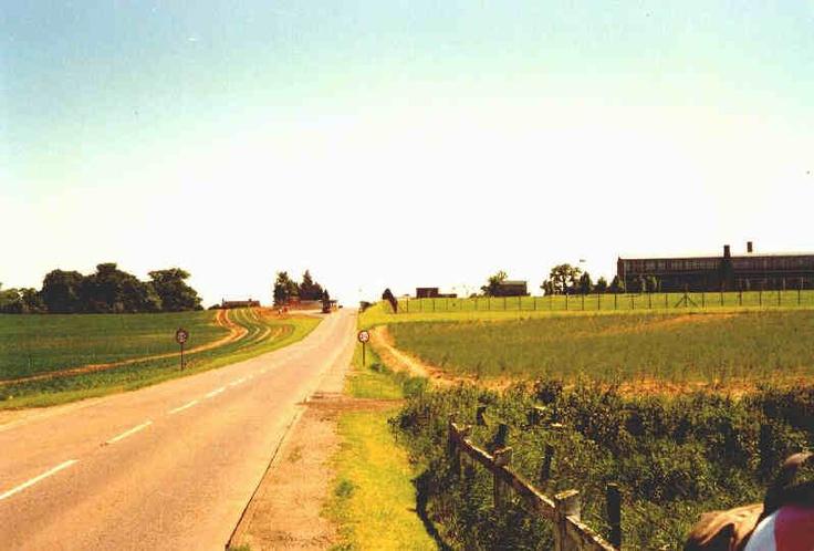 Approaching the east gate of RAF Chicksands. Near Shefford, United Kingdom