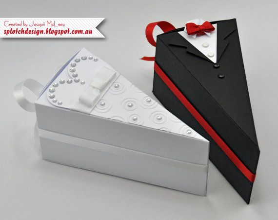 Wedding Cake Box Digital Tutorial by SplotchDesign on Etsy