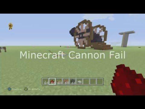 Minecraft Cannon Fail - YouTube