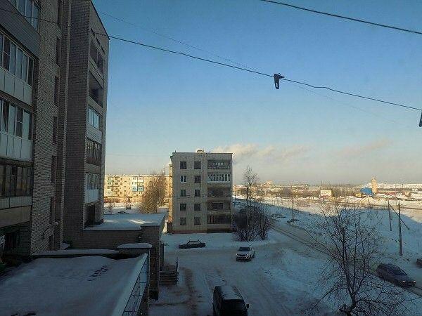 Вид с окна. Город Пикалёво.