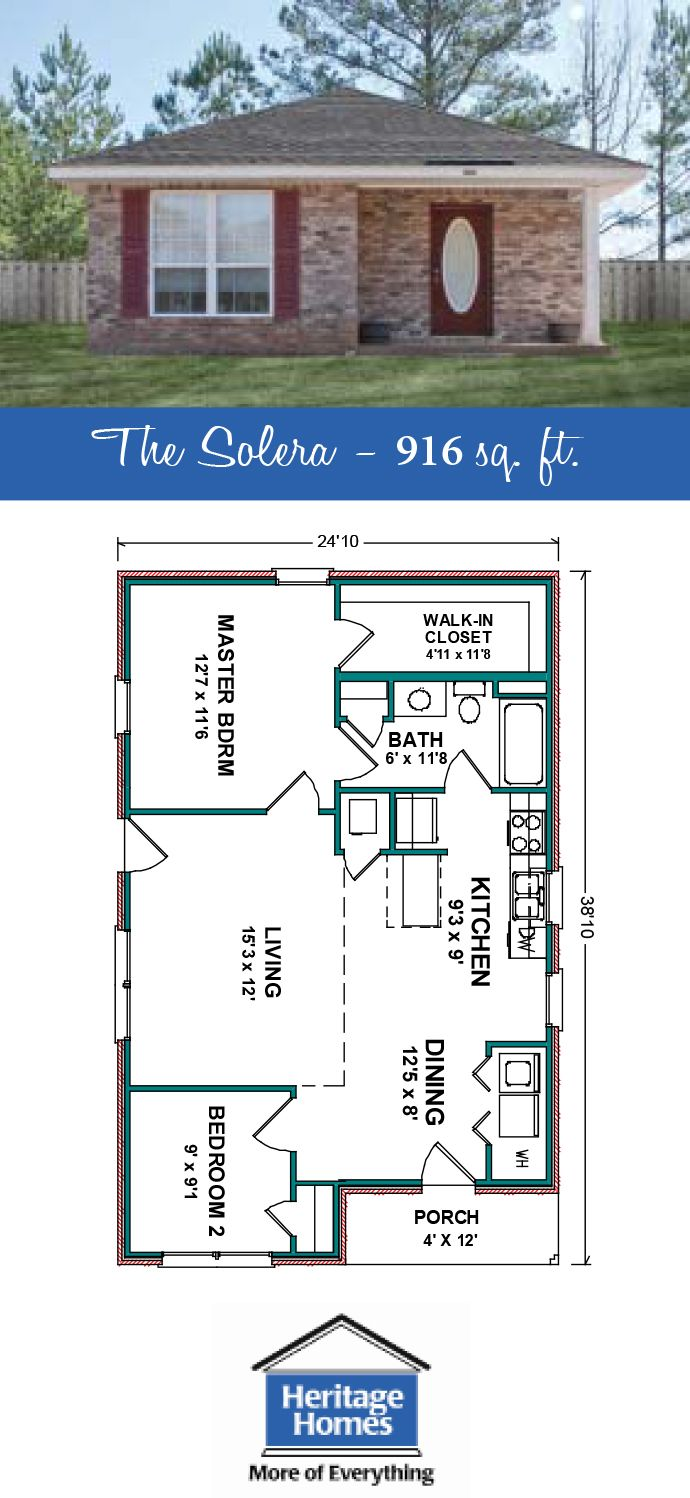 900 1 000 Sq Ft Floor Plans The Solera Is A 916 Sq Ft Home With 2 Beds 1 Baths Split Floor Plan All Pool House Plans Small House Floor Plans Floor Plans