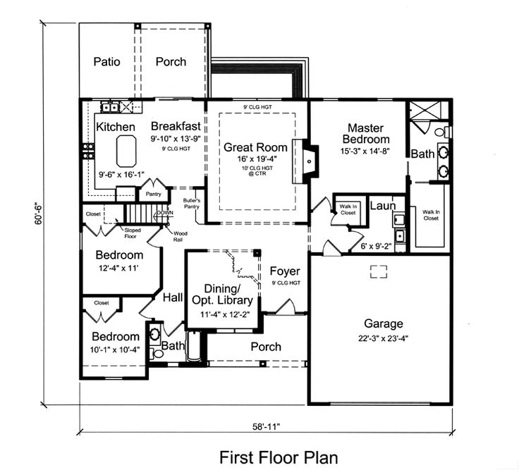 Small House Floor Plans Ranch: 17 Best Images About Small House Plans On Pinterest