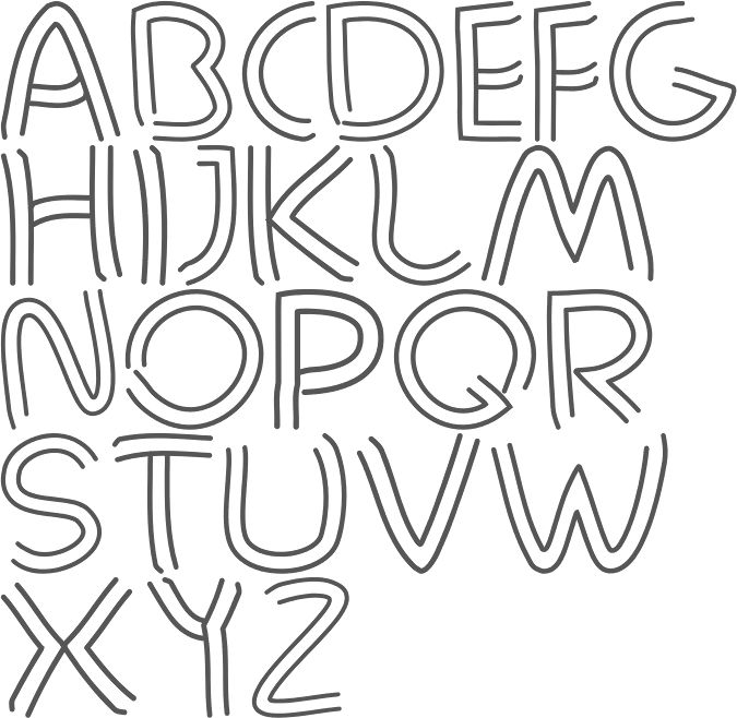 Bartleby (2012) is a hand-drawn all caps display font.