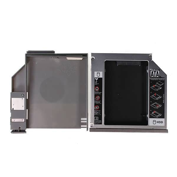 """2.5"""" SATA 2nd HDD Hard Driver Caddy DELL D600 D610 D620 D630 D800 D810 D820 D830 Discription: This caddy will allow you to increase your notebooks HDD size to huge TB!! all you have to do is to replace your DVD drive with this caddy. This device takes 2.5""""/9.5mm SATA..."""