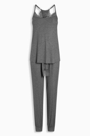 Buy Grey Rib Pyjamas from the Next UK online shop