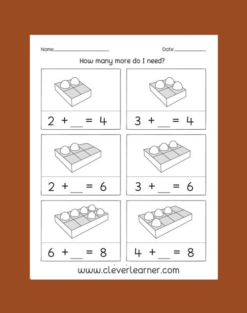 Pin von Clever Learner auf Addition of Numbers Worksheets | Pinterest