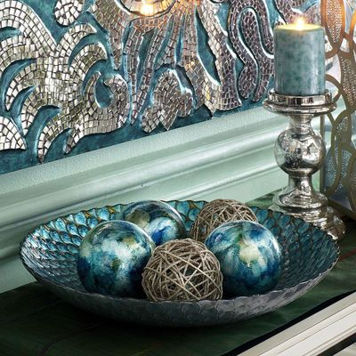 "Peacock Serving Bowl--Pier 1--15.75 "" diam--$39.95/on sale $31.96  Also avail in platter form, same diam"