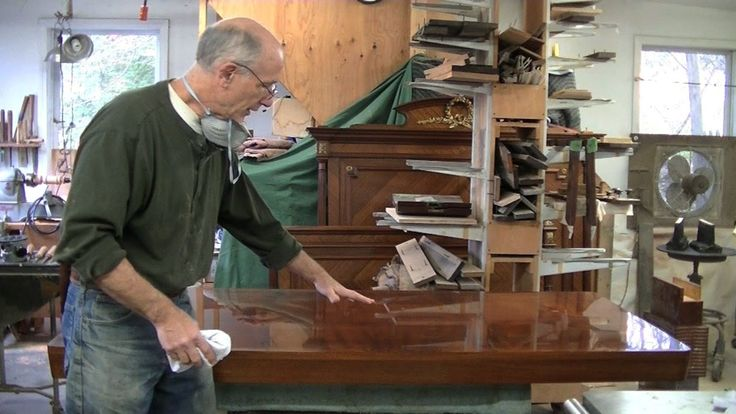 Repairing Veneer on a Midcentury Tabletop - Thomas Johnson Antique Furni...