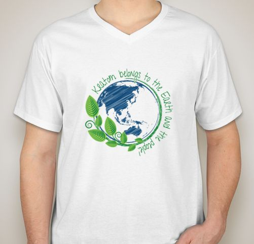 Kratom Belongs to the Earth T-Shirt:  All proceeds go to the BEA's efforts to keep Kratom legal. Designed by a Kratom volunteer