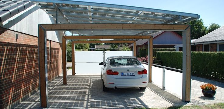Carport med solcelletag