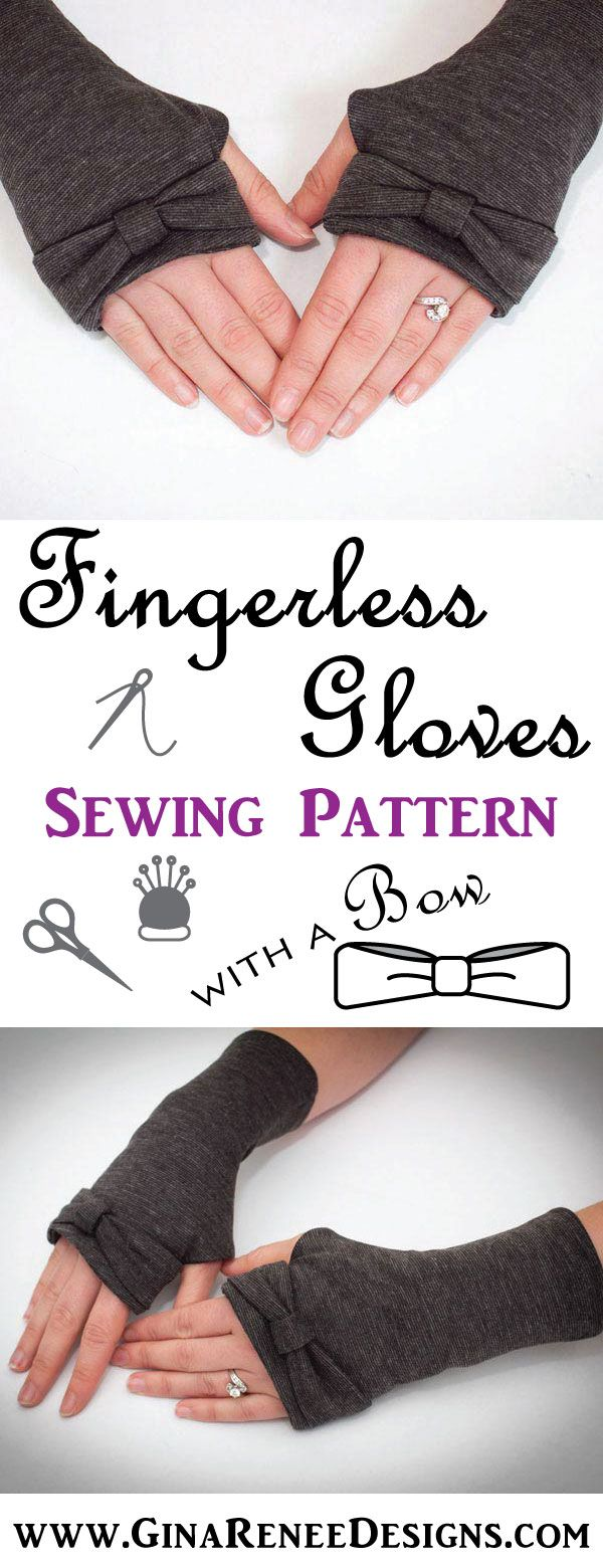 SUPER CUTE Fingerless Glove PDF Sewing Pattern by GinaReneeDesigns. Time to sew these up!