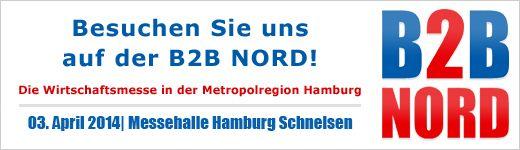 B2B Nord am 3.April 2014 in Hamburg-Schnelsen. Wir sind dabei Stand Nr. 80, 1. OG www.artemis-werbeartikel.de