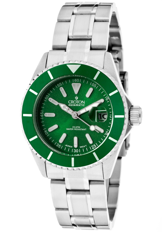 Price:$63.75 #watches Croton CA201159GRGR, With a royal appeal, this Croton timepiece has a regal design and adds a refined look to your wardrobe.