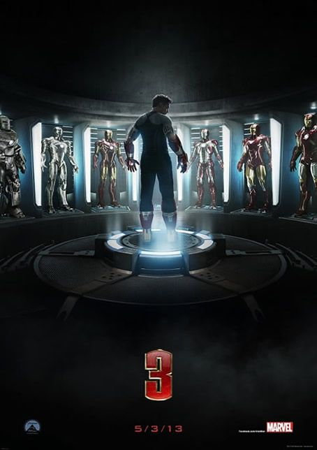 Iron Man 3 Teaser Poster and the first image of the Ben Kingsley as Mandarin