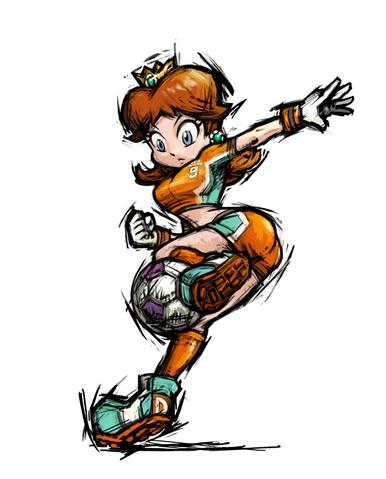 Daisy from Super Mario Strikers.