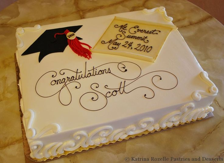 pictures of graduation cakes for boys | Katrina Rozelle Pastries & Desserts | Graduations