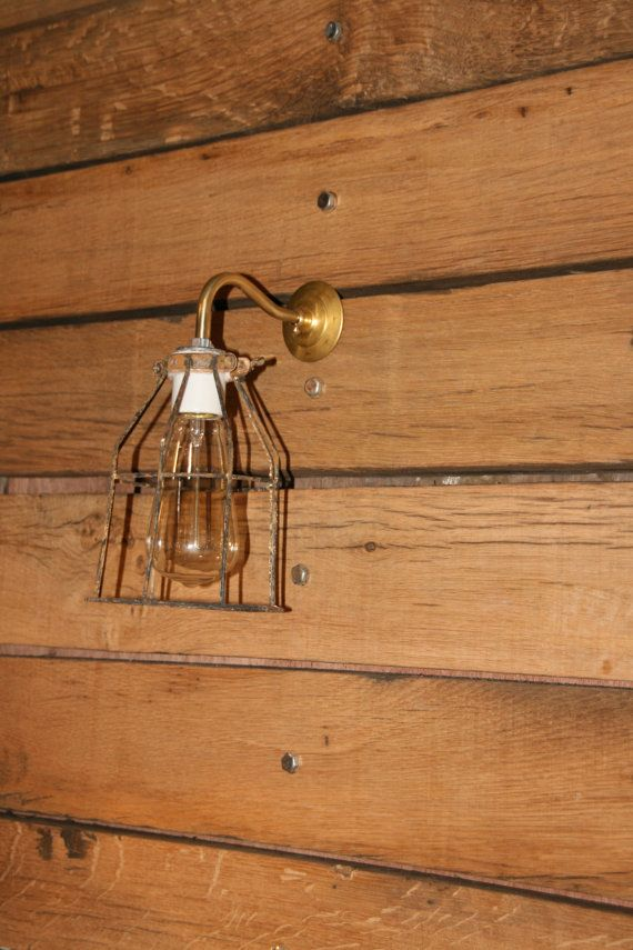 Brass Arm Wall Sconce
