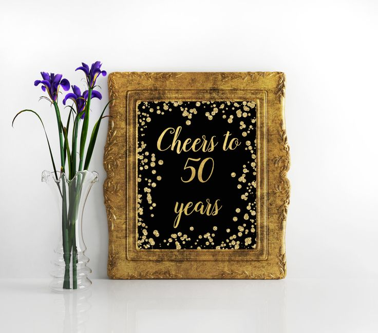 Printable Sign Cheers to 50 Years 50th birthday decoration 50th birthday decor 50th Birthday Sign 50th Anniversary Sign Cheers Banner by Kompostela on Etsy