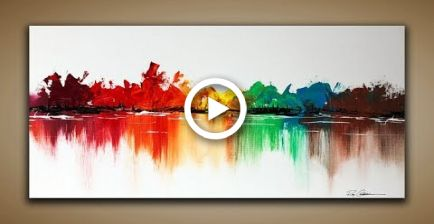 Abstract Painting / DEMO 87 / Abstract Landscape / With brush, spatula / painting techniques