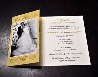 50th Wedding Anniversary Party Invitation - The Wedding SpecialistsThe Wedding Specialists