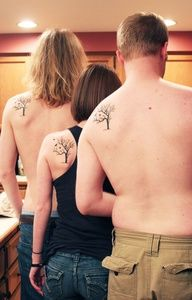 Would love to do this with my brothers. THE SIBLING TATOO: The tree is meant to signify our roots, and the strength of our family, while the three birds represent the three siblings.