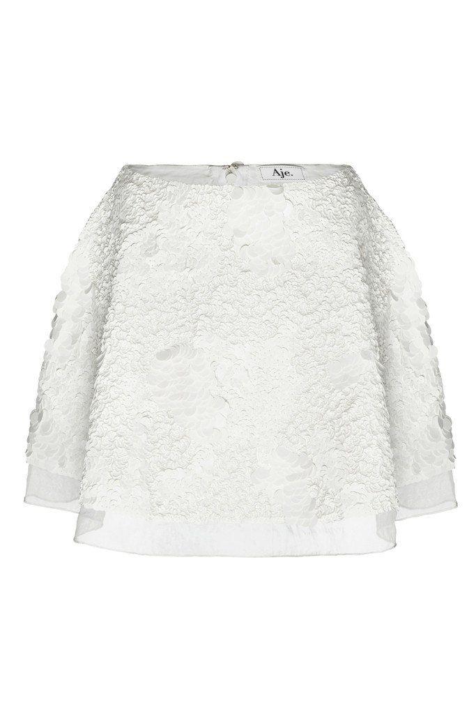 Aje sorian skirt in white