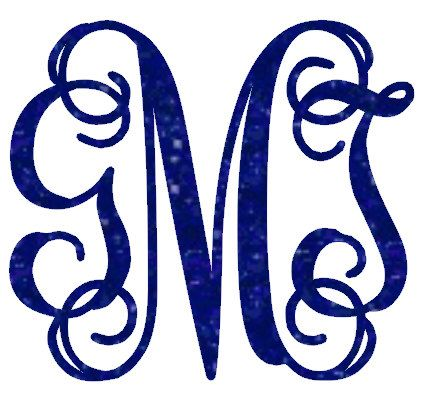 Glitter vine font monogrammed heat transfer iron on, custom iron on, glitter initials, personalized monogram by DenisesSimplyUnique on Etsy https://www.etsy.com/listing/214316075/glitter-vine-font-monogrammed-heat
