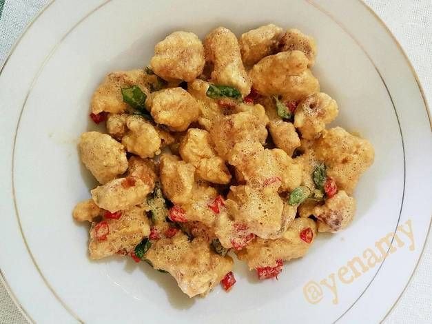 Resep Ayam Goreng Telur Kuning Asin Salted Egg Yolk Chicken Oleh Yenny Ami Resep Resep Ayam Ayam Goreng Memasak