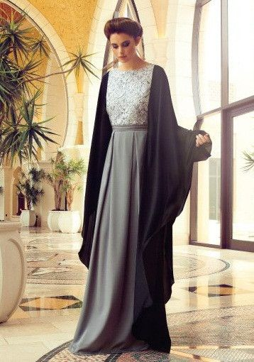 Designer Inspired Abaya - love the grey and black!