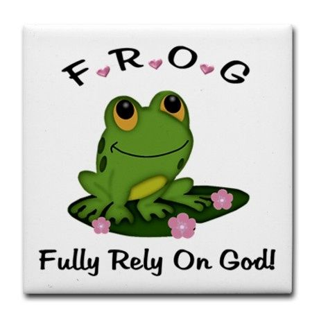 FROG Fully Rely On God Tile Coaster by stylesplus
