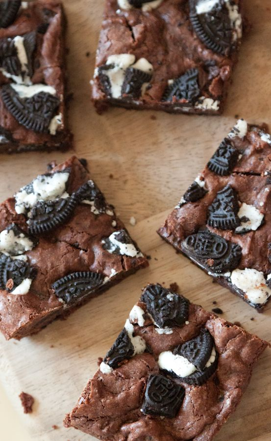 Cookies and Cream Brownies via @Gaby Dalkin