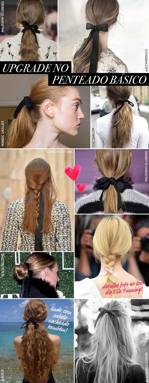 34 ideias para usar fitas no cabelo! - Garotas Estúpidas - Garotas Estúpidas