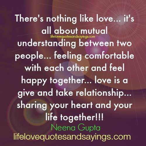 Relationships between people