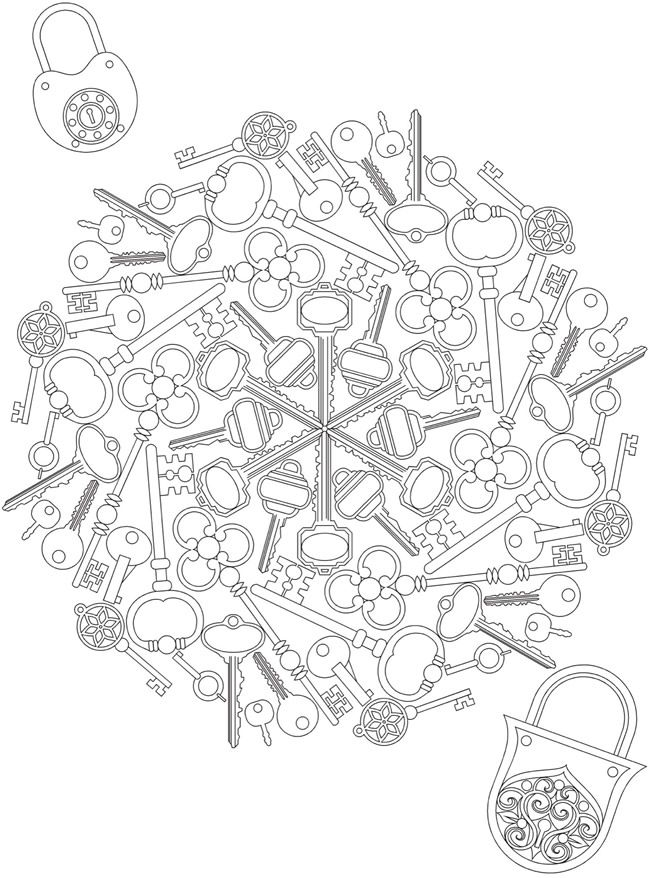 Dover Publications Creative Haven Whimsical Mandalas Coloring Book
