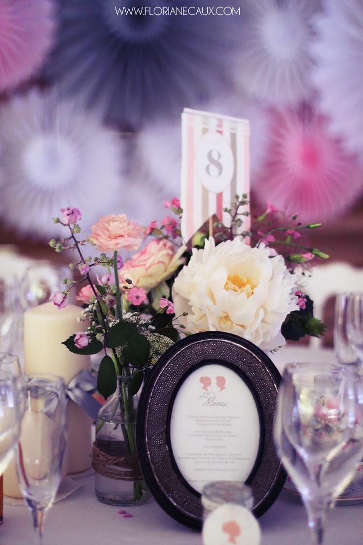 Floriane Caux Photographe de Mariage - déco et scénographie : MiY.  #wedding #mariage #deco #diy #candle #bougie