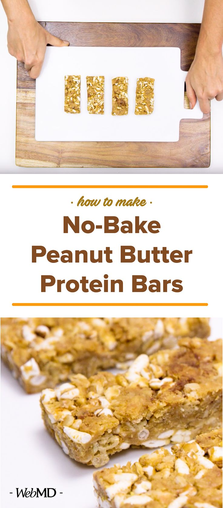 Make a batch of these easy no-bake power protein bars for a quick and easy healthy snack.