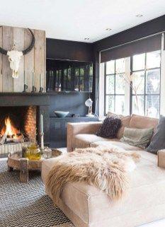 100+ Stunning Rustic Living Room Design Ideas Part 86