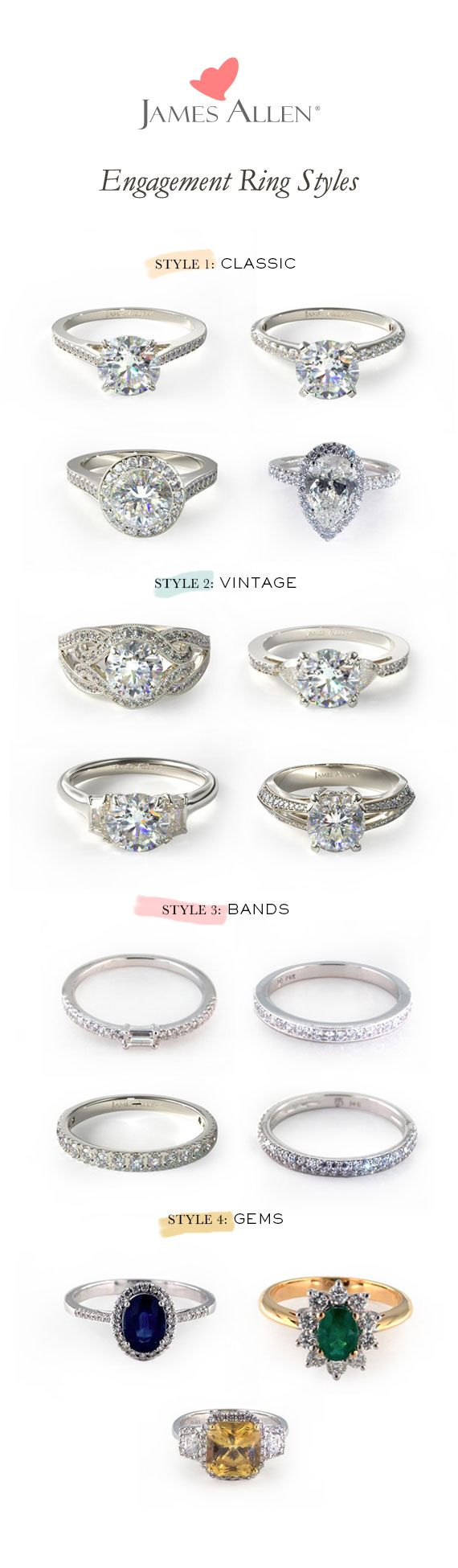 Which engagement ring style should you choose? www.JamesAllen.com #jamesallenrings