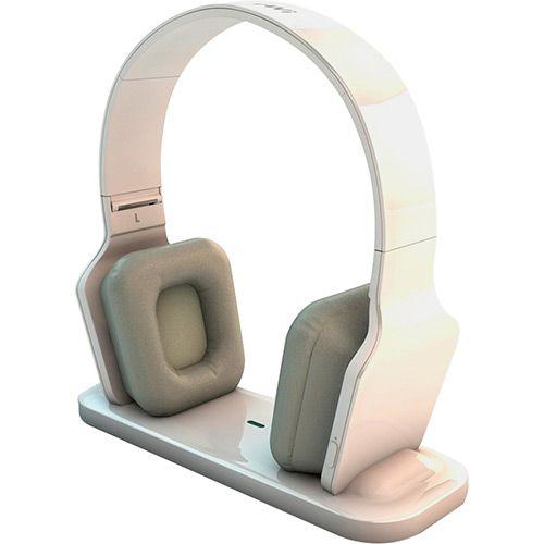 Fone de Ouvido BeeWi Bluetooth com Dock Station Hi-Fi - Branco