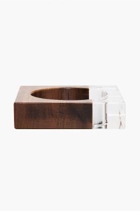 MM6 MAISON MARTIN MARGIELA // WOOD PLEXIGLASS BRACELET.