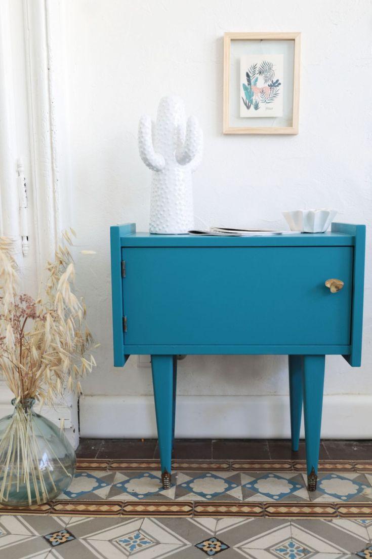Voici comment peindre sans d caper et sans sous couche un meuble vintage h ll blogzine blog - Peindre meuble melamine sans sous couche ...