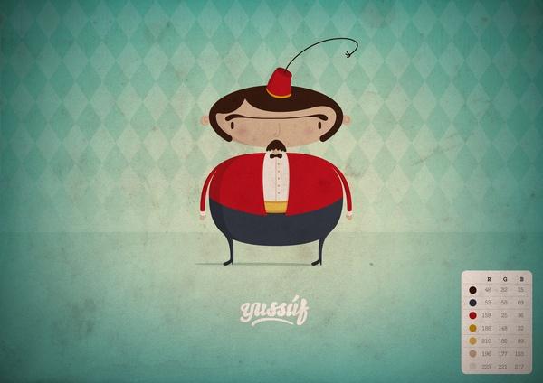 Yussuf by Sébastien Nikolaou, via Behance